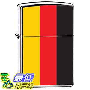 [美國直購] Zippo Flag of Germany High Polish Chrome Lighter, 7964 打火機