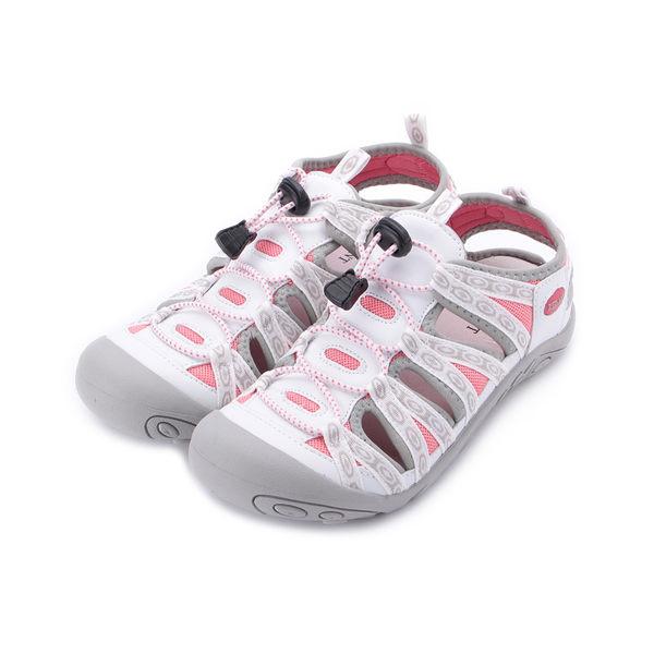 RED ANT 真皮護趾運動涼鞋 白 H3 女鞋 鞋全家福