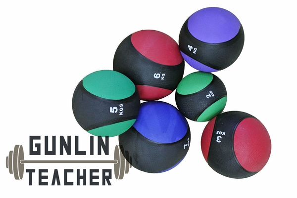 -槓鈴老師健身器材- 硬式藥球  Medicine Ball 3KG-7KG 套裝組 重量訓練 健身器材