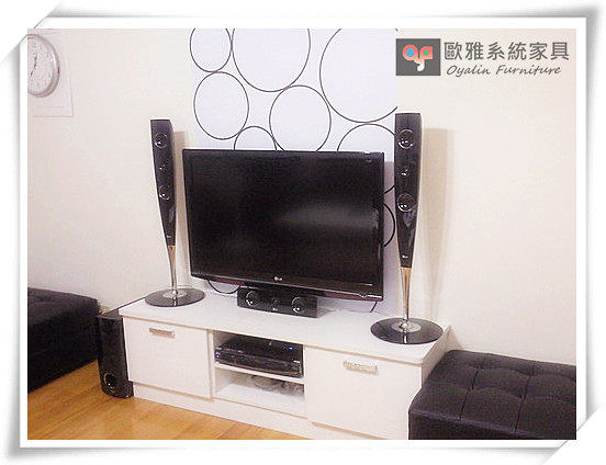 【系統家具】電視櫃設計+中島桌