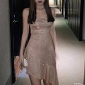 性感吊帶洋裝女春夏季修身顯瘦氣質內搭魚尾打底裙 卡布奇諾