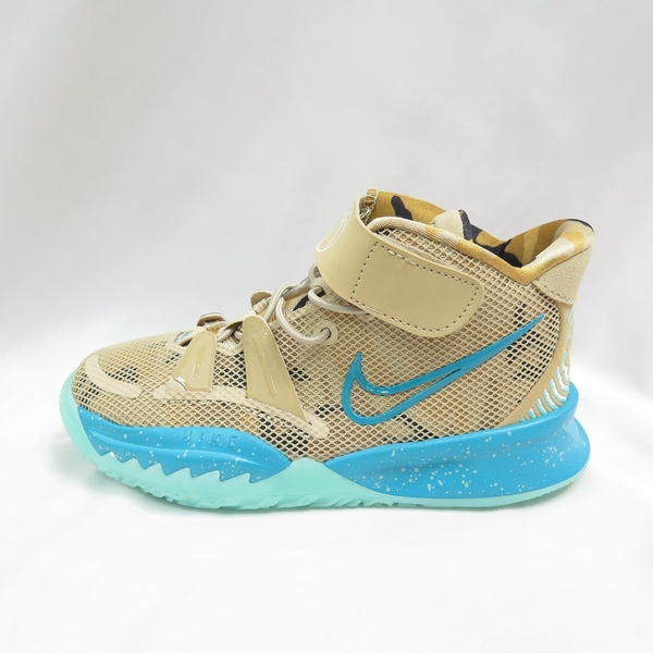 NIKE KYRIE 7 (GS) 中童 兒童運動鞋 魔鬼氈 籃球鞋 CT4087207 卡其【iSport愛運動】