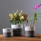 圓形花盆陶瓷中國風室內桌面多肉盆綠蘿花盆【時尚大衣櫥】