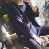 【618】好康鉅惠夏裝韓版短袖t恤男寬鬆潮流七分袖體恤