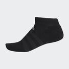 ADIDAS CUSH LOW 襪子 腳踝襪 腳掌加厚 短襪 休閒 黑(五入)【運動世界】DZ9389