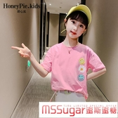 女童短袖T恤2020韓版中大兒童夏季洋氣上衣打底衫薄款潮純棉夏裝