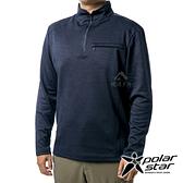 PolarStar 男 立領拉鍊保暖衣『深藍』P19265 上衣 男版 休閒 戶外 登山 吸濕排汗 透氣