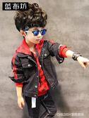 牛仔外套 藍布坊童裝男童牛仔外套秋裝新款兒童夾克衫中大童韓版棒球服 童趣潮品