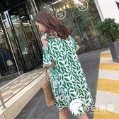 孕婦裝-夏裝新款韓版連身裙中長款露肩時尚裙子棉麻上衣潮-奇幻樂園