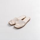 Queen Shop【05090198】皮質方頭寬帶設計拖鞋 兩色售 36-39*現+預*