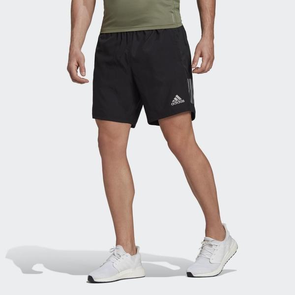 ADIDAS OWN THE RUN 男款黑色運動短褲-NO.FS9807