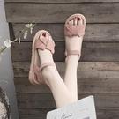 涼鞋女士2021年夏季新款厚底學生仙女風百搭時裝溫柔平底鞋ins潮 韓國時尚週