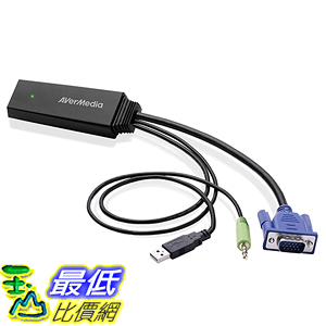 [美國直購] AVerMedia (ET110) Video Converter, Convert VGA Signals to HDMI Format Cable Adapter 轉接頭