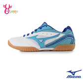 Mizuno桌球鞋 美津濃 女款 CROSSMATCH 室內運動鞋 美津濃桌球鞋 I9243#白藍◆OSOME奧森鞋業