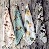 小手帕毛巾新品嬰幼兒口水巾兒童手帕帶掛鉤新生兒方巾【快速出貨】