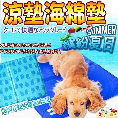 【培菓幸福寵物專營店】DYY有效涼爽》多功能寵物雙面凝膠散熱涼墊款式隨機【XL】50*90cm