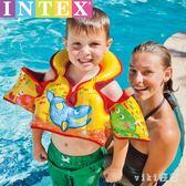 兒童水母衣救生衣寶寶游泳圈初學者游泳裝備用品充氣浮力背心馬甲 nm2974 【VIKI菈菈】