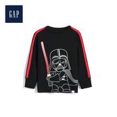 Gap男幼童 星際大戰系列長袖圓領T恤496338-純正黑