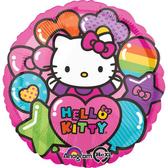 18吋鋁箔氣球(不含氣)-凱蒂貓彩虹