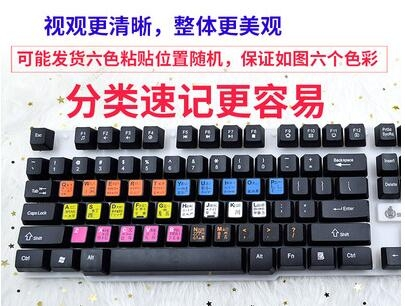 五筆鍵盤貼筆記本電腦打字