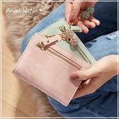 短夾-超薄復古磨砂斑紋簍空雕花吊飾女皮夾零錢包 (SMA0263) AngelNaNa