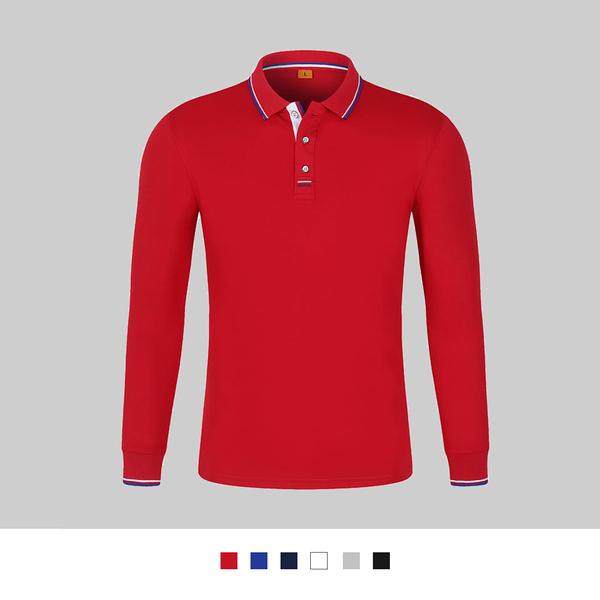 【晶輝團體制服】LS2908*配色素面長袖POLO衫(印刷免費)公司制服,班服