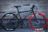 自行車-變速死飛自行車男公路賽車單車雙碟剎實心胎細胎成人學生女熒光 完美YXS
