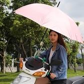 車自行車撐傘架電動車不銹鋼遮陽傘架摩托車加厚雨傘支架-享家