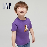 Gap男幼童 Gap x Ken Lo 藝術家聯名系列純棉短袖T恤 854744-紫色