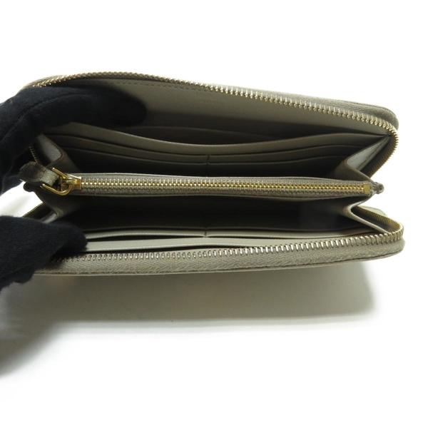 PRADA 普拉達 灰色防刮牛皮ㄇ字型拉鍊長夾 Arround Wallet 【BRAND OFF】