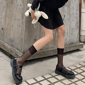 透明小腿襪白色襪子女jk夏天薄款