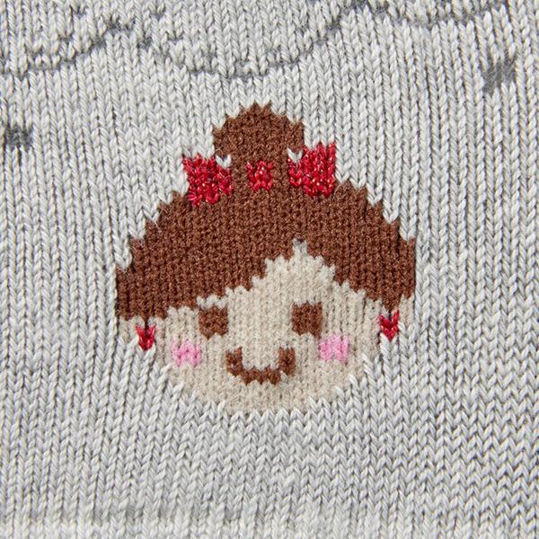 MIKI HOUSE  日本製 麗娜娃娃無底褲襪(灰)
