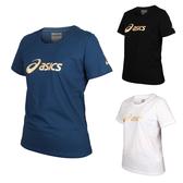 ASICS 女短袖T恤(免運 台灣製 純棉 運動上衣 亞瑟士≡體院≡ K12006