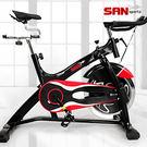 (6倍強度)飛輪健身車黑爵士23KG飛輪車.室內腳踏車.單車自行車訓練台.推薦專賣店【SAN SPORTS】