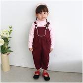 Augelute Baby 素色硬挺大口袋造型吊帶褲 52258