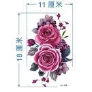 紋身貼 玫瑰花紋身貼紙 防潑水女身體彩繪...