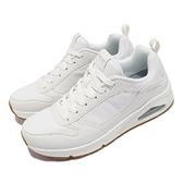 Skechers 休閒鞋 Uno Hideaway 白 銀 男鞋 氣墊 增高 運動鞋 【ACS】 232152WHT