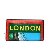 【BALENCIAGA】LONDON鐵橋塗鴉ㄇ拉長夾(紅/綠/藍)443655 DE9XN 6560
