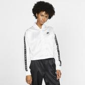 NIKE AiR 女裝 外套 短版 緞面 光滑 串標 休閒 舒適 白 【運動世界】 BV4780-100