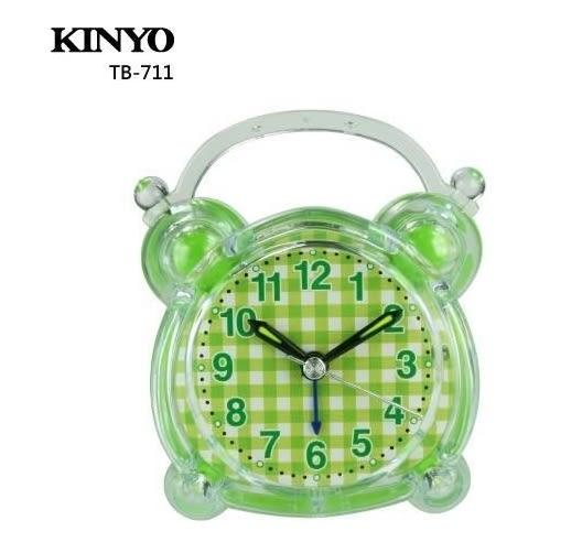 【超人生活百貨】KINYO 可愛造型鬧鐘 TB-711 可愛造型 百搭配置 精緻小巧不佔空間