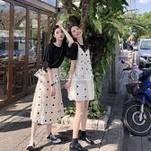 小清新套裝裙子女夏裝洋氣閨蜜裝學生韓版半身裙兩件套洋裝 快速出貨