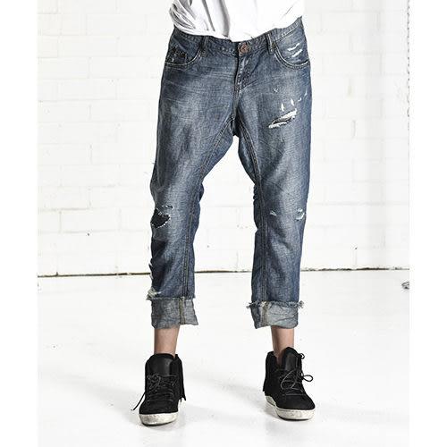 OneTeaspoon牛仔褲 破褲 - 女(單寧藍)