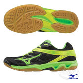美津濃 MIZUNO 男女排球鞋 THUNDER BLADE (黑綠黃) 全尺碼 高CP值排球鞋 V1GA177010 永信杯【 胖媛的店 】