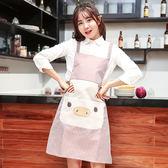 圍裙正韓時尚廚房餐廳防水工作服加厚防油成人背帶式家用圍腰 【限時88折】