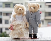 一定要幸福哦~~深情浪漫婚紗對熊(整組含支架) 、婚禮小物、生日禮、婚禮佈置