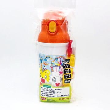 日本製 巧虎 Benesse 彈蓋直飲式水壺 附背帶 480ml(4591) -超級BABY
