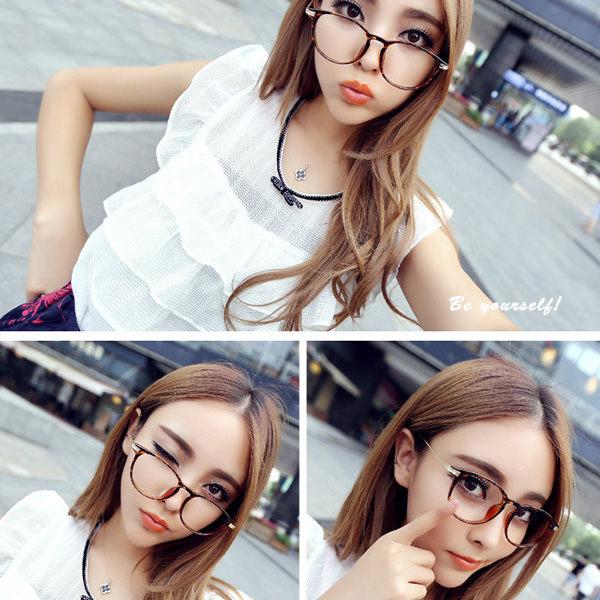 時尚女款金屬平光眼鏡 726   可   【櫻桃飾品】【726】