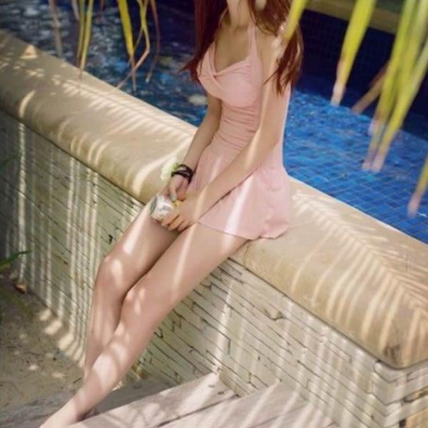 梨卡★現貨 - 連身泳裝[美胸]加大XXL遮肚顯瘦溫泉泳衣-戀愛邂逅粉C081