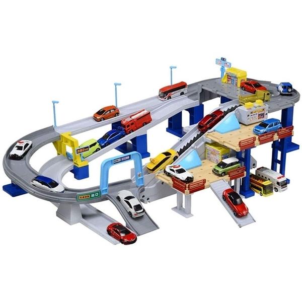 小禮堂 Tomica多美小汽車 新版高速公路玩具 (紅盒) 4904810-11443
