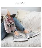運動鞋女2020夏季新款韓版百搭椰子跑步女鞋子夏款反光透氣潮鞋運動老爹鞋